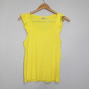 Zara Trafaluc Yellow Flutter Cap Tank Top sz Med